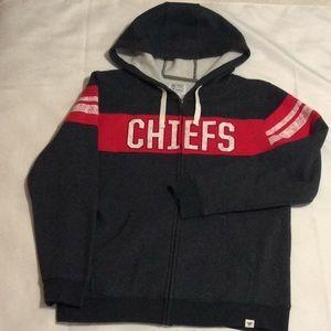 NFL Pro Line Chiefs Hoodie, zipper front, EUC (L)